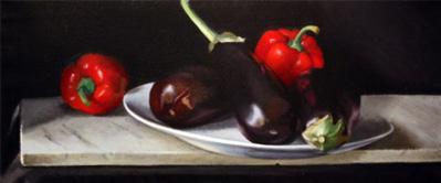 Eggplant and Peppers by Nadia Mahfuz