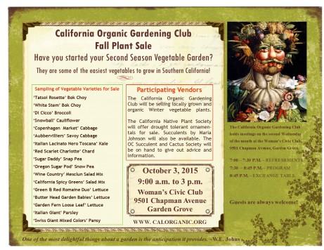 COGC Fall Plant Sale