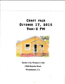 Craft Fair 10_17_15
